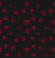 red skulls seamless pattern vector image