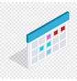 schedule isometric icon vector image