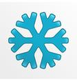 snowflake icon blue creative on light gray vector image