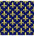 Golden fleur de lis royal lily seamless vector image