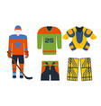 hockey uniform accessory in flat style vector image