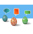 Social media decorative Easter eggs vector image