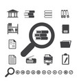 documents icons and library icon vector image