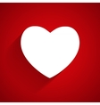 Happy Valentines Day Card with Heart Flat vector image