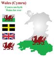 Welsh Flag vector image vector image