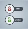 Lock and unlock for website or vector image vector image