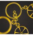 golden gear vector image vector image
