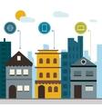 Smart city design vector image