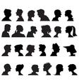 Profiles vector image vector image