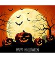 Halloween background design vector image