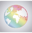 Earth and pointed icon World and Map design vector image