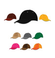 Baseball caps vector image