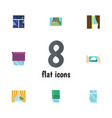 Flat icon frame set of glazing glass clean and vector image
