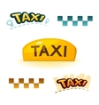 Taxi sign vector image