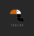Toucan bird logo mockup graphic shape for print vector image