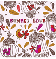 Birds and cages Summer love vector image vector image