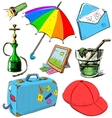 Vacation colorful set vector image vector image