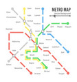 metro map  city transportation scheme vector image