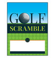 golf tournament scramble flyer vector image vector image