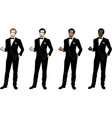 Man in black tuxedo and bow tie vector image