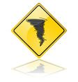 tornado warning sign vector image vector image
