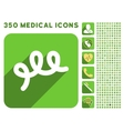 Spiral Bacillus Icon and Medical Longshadow Icon vector image