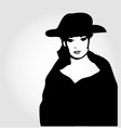Elegant woman in a hat vector image vector image