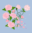 A bouquet of pink flowers vector image