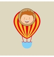 boy lovely smiling airballoon graphic vector image