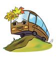bus autumn vector image