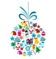 Christmas holiday ball vector image