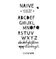 cut out font vector image
