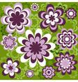 flower seamless wallpaper vector image