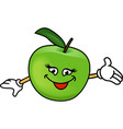 Happy apples vector image