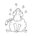 lamb Doodle vector image