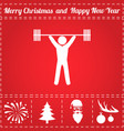 powerlifter icon vector image