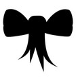 tied ribbon silhouette vector image
