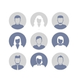 People profile silhouettes icons vector image