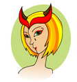 woman demon vector image