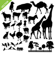 Aniaml and farm silhouette vector image