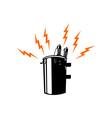 Electricity Transformer Retro vector image
