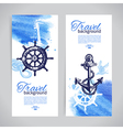 Set of travel banners Sea nautical design vector image