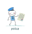 police shows the document vector image vector image