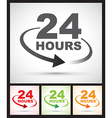 24 hours set vector image