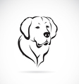 image of golden retriever vector image