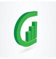 g letter design vector image vector image