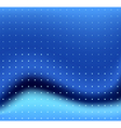 blue wave and dots vector image vector image