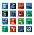 Disposal Of Waste Colorful Square Icons vector image