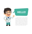 Doctor Saying Hello Poster vector image vector image