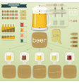vintage infographics set - beer icons and elements vector image vector image